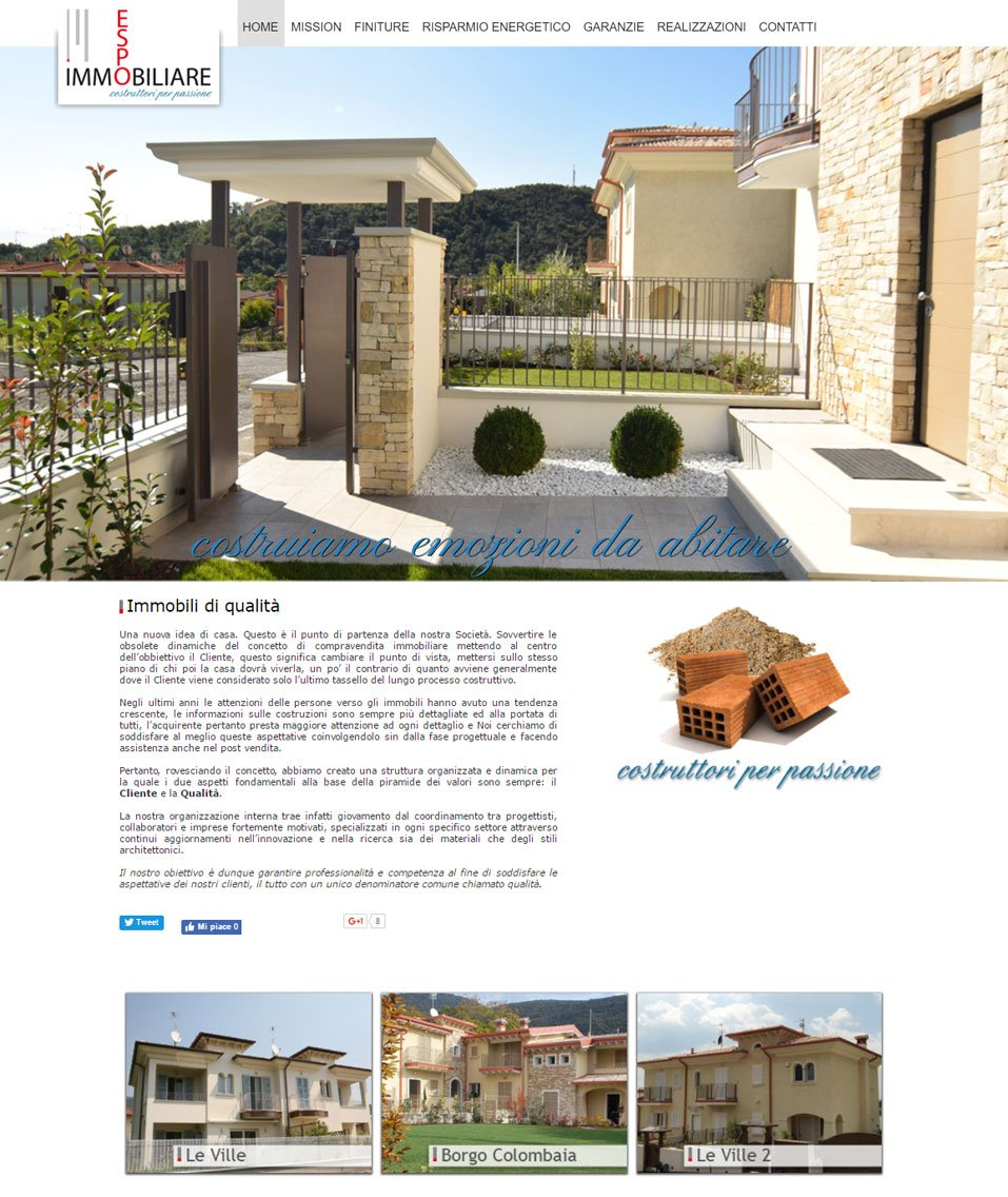 Espo Immobiliare sito web by www.poliweb.it
