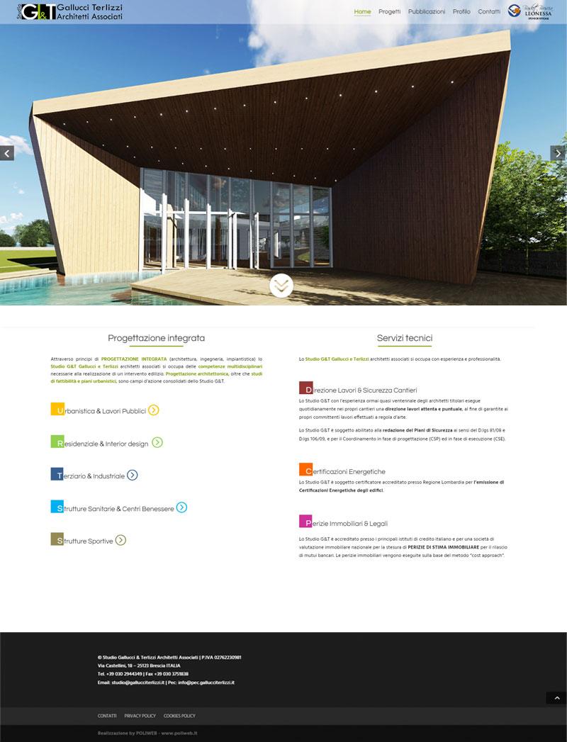Sito web Studio Architetti Gallucci e Terlizzi